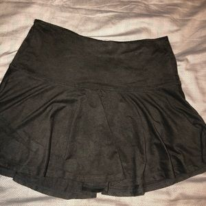 Dark Suede Mini Skirt